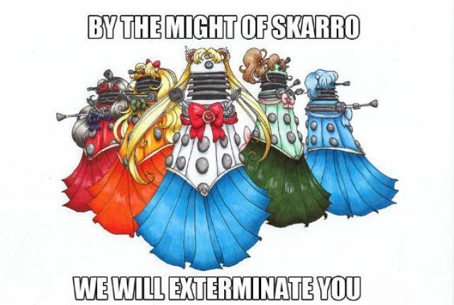 10 Clever Dalek Mashups | Sailor moon, Dalek, Anime motivational ...