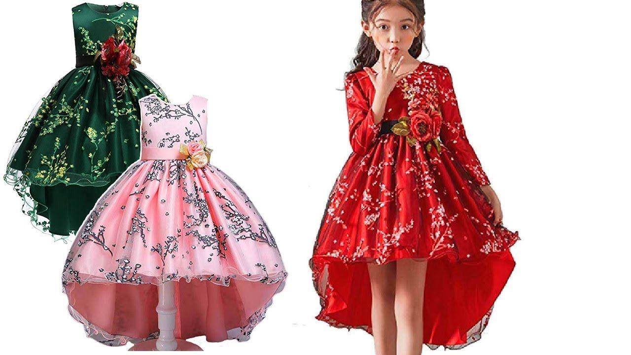 Princess Girls Dress Design For Wedding Party 2020 Girls Gown Dress Desi In 2020 Gown Dress Design Gowns For Girls Kids Prom Dresses