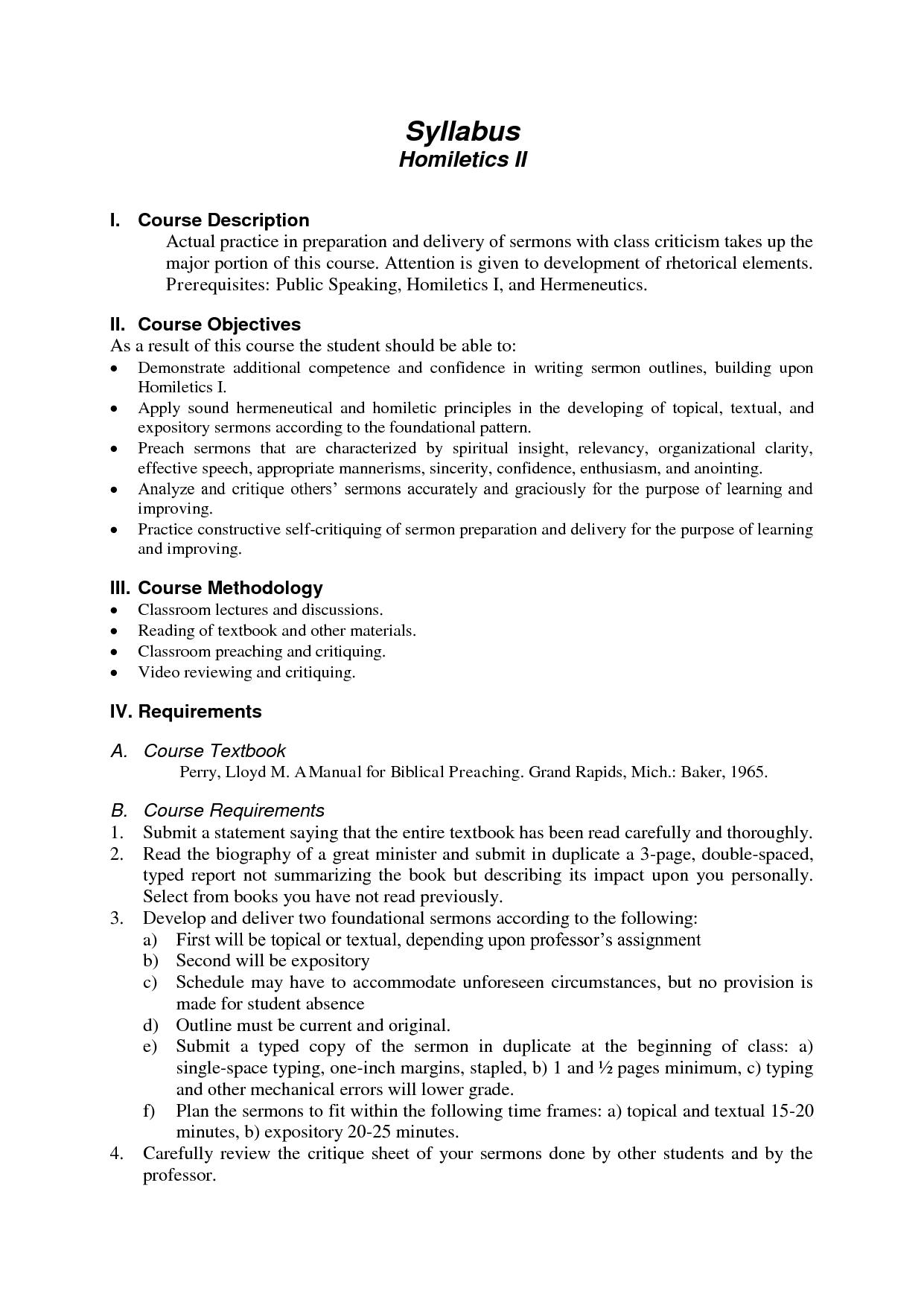 Printables Of Homiletics Worksheet