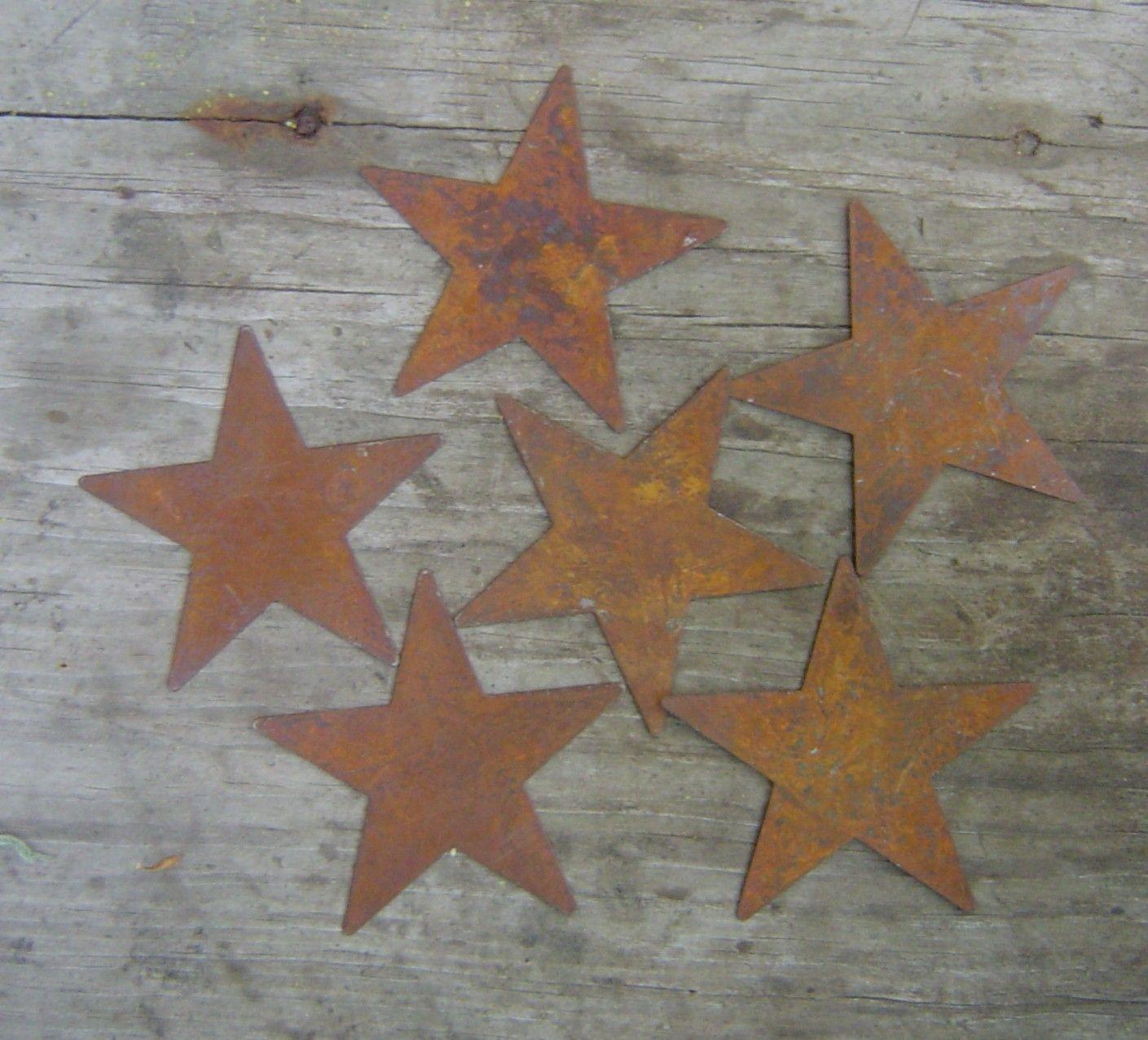 Rusty tin craft supplies - Twelve 12 Rusty Tin Stars Craft Supplies 1 25 Inch Scrapbooking Embellishments