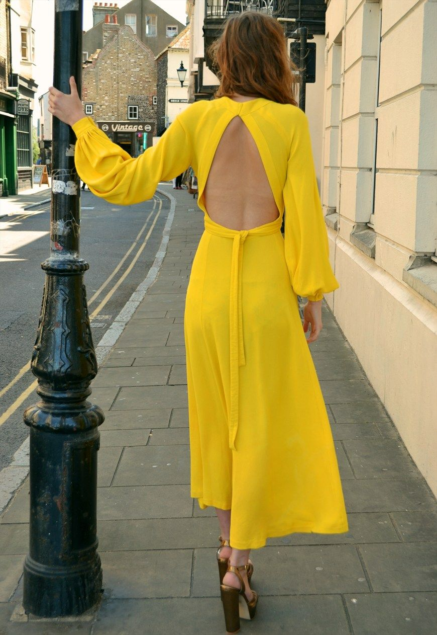 Ossie Clark Vintage 1960's Cuddly Open Back Wrap Maxi Dress | Madam Popoff Vintage | ASOS Marketplace