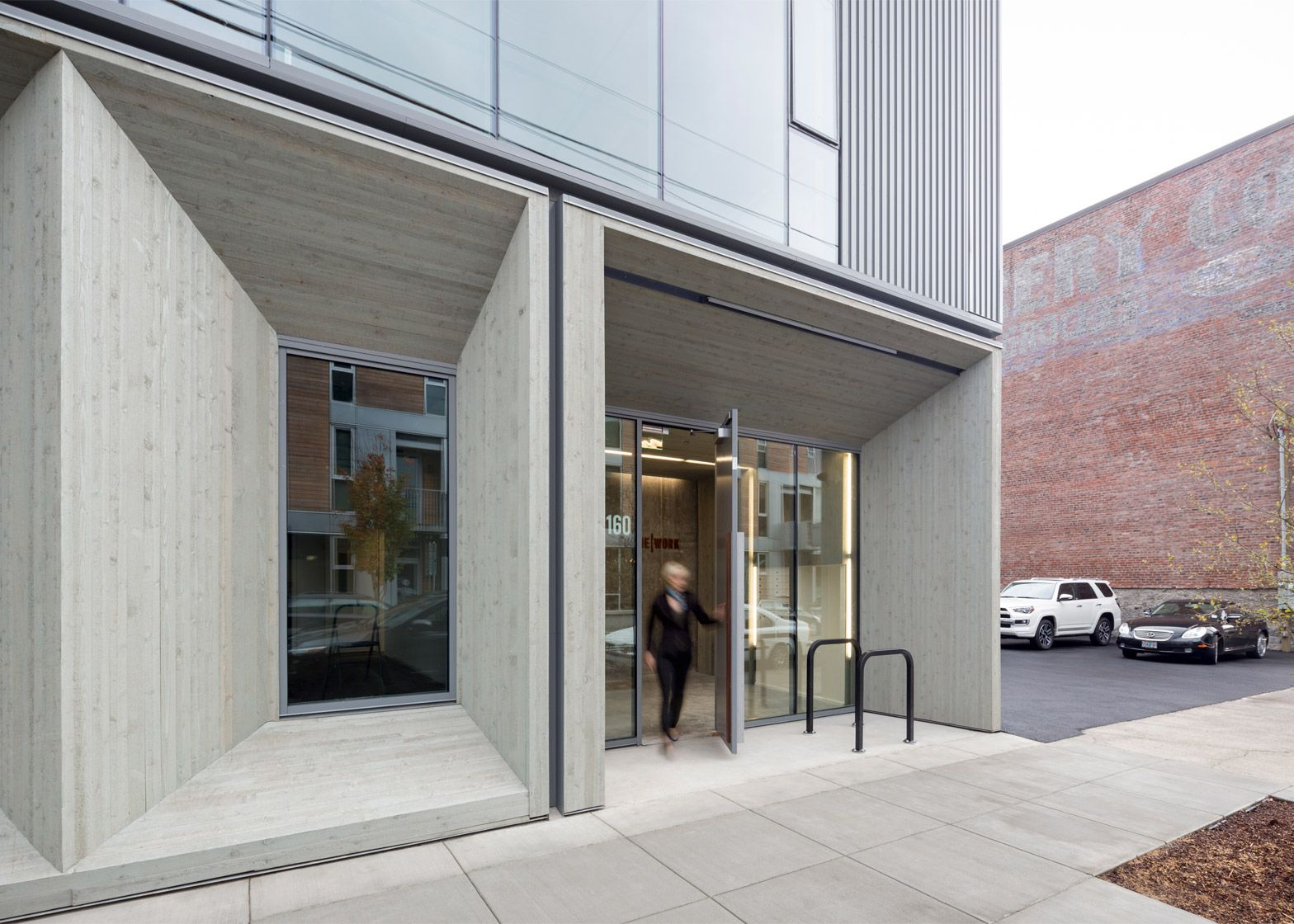glass facade reveals timber structure