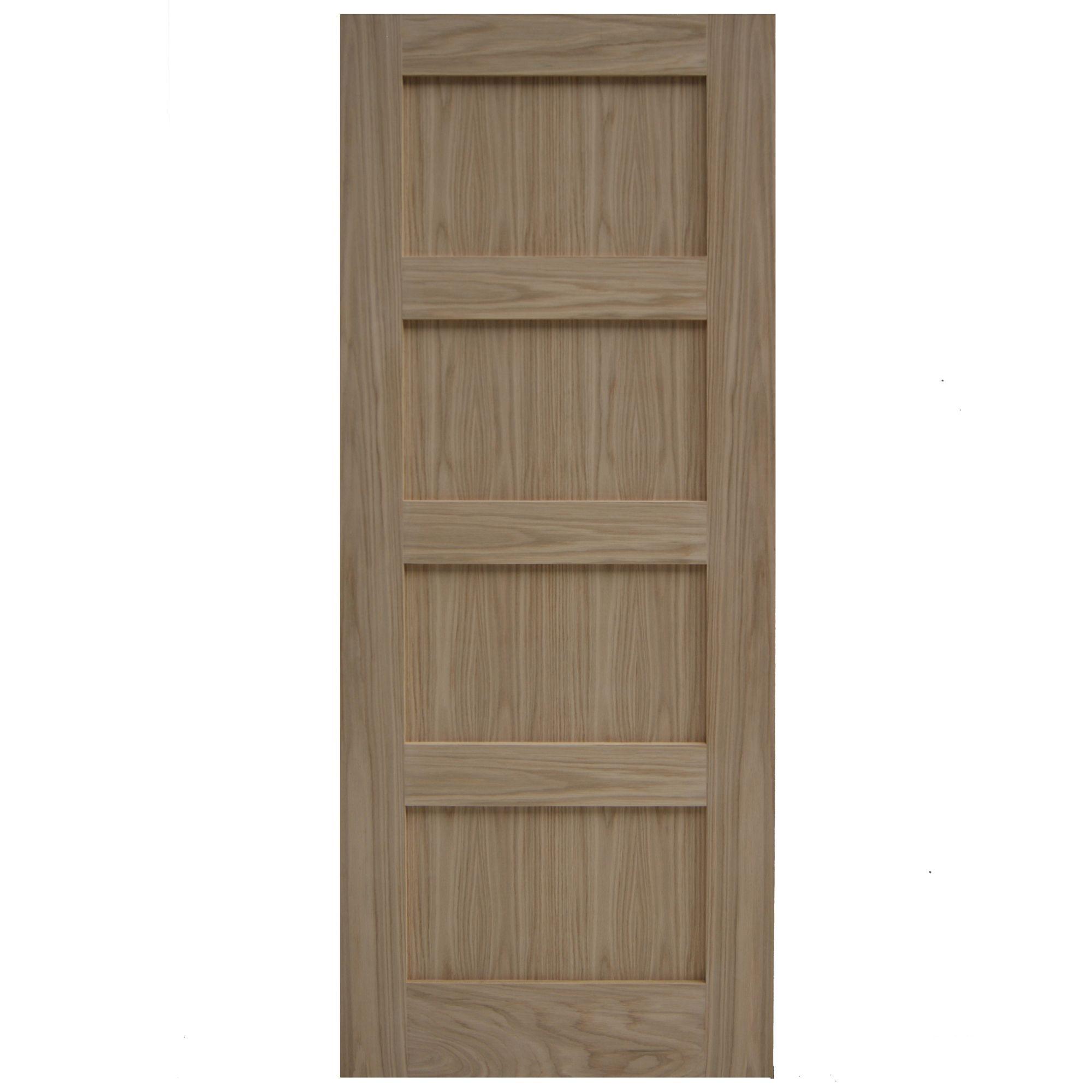 Shaker 4 Panel Oak Veneer Internal Unglazed Door H 1981mm W 762mm Departments Diy At B Amp Q