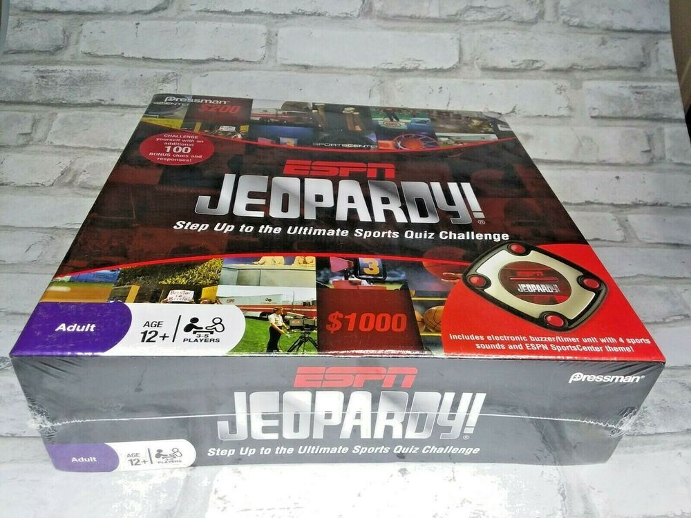 Espn Jeopardy Step Up To The Ultimate Sports Quiz Challenge Ebay In 2020 Sports Quiz Espn Challenges