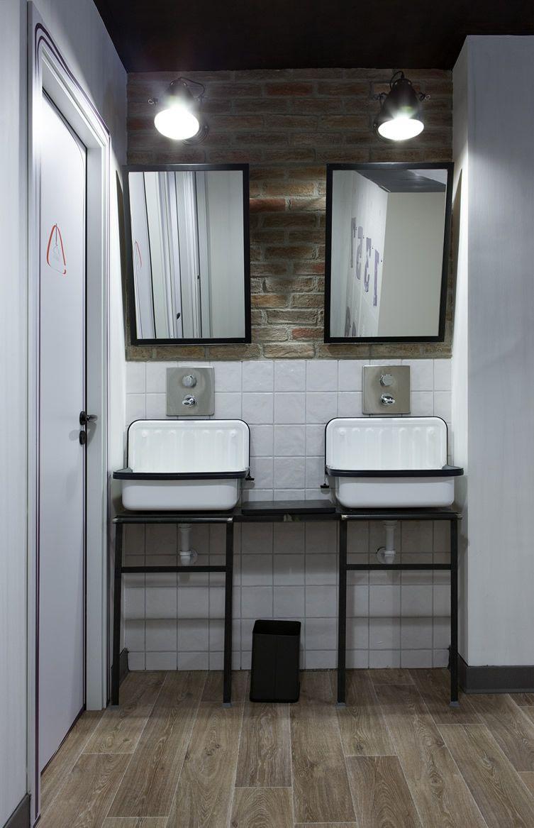 Room007 Ventura Hostel, Madrid · Industrial Bathroom DesignBathroom ...
