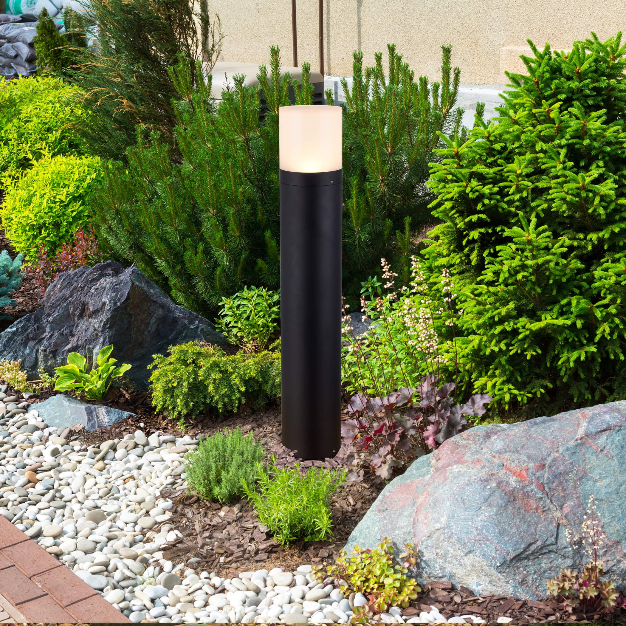 32 Modern Vob16998bl Low Voltage 9 Watt Integrated Led Outdoor Bollard In Matte Black Bollard Lighting Path Lights Outdoor Post Lights