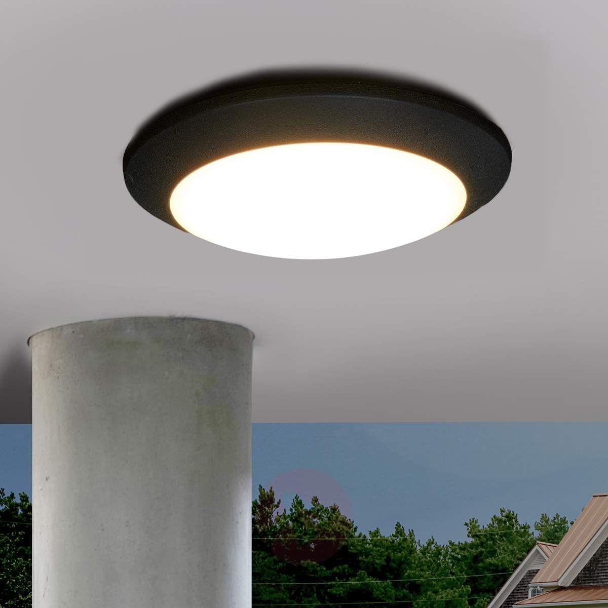 Zewnętrzna Lampa Sufitowa Led Berta Czarna Lampy Sufitowe