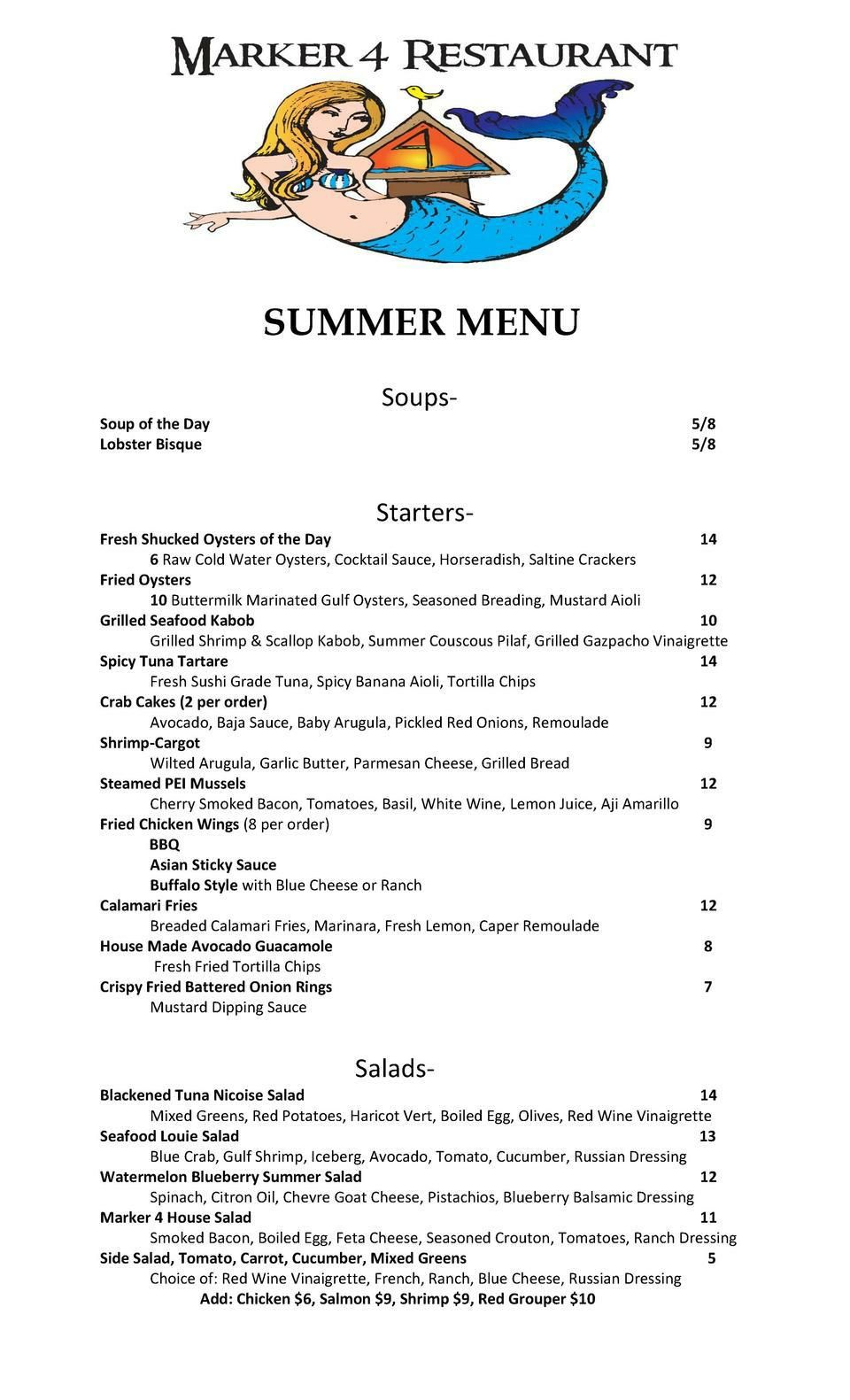 Summer Menu New Summer Menu Made With Simplebookletcom Local