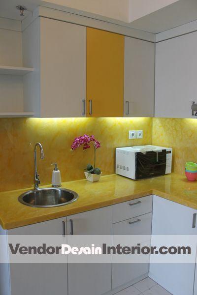 Ide Dapur Kuning Putih Jakarta Hub 0812 1233 9393 Desain Interior