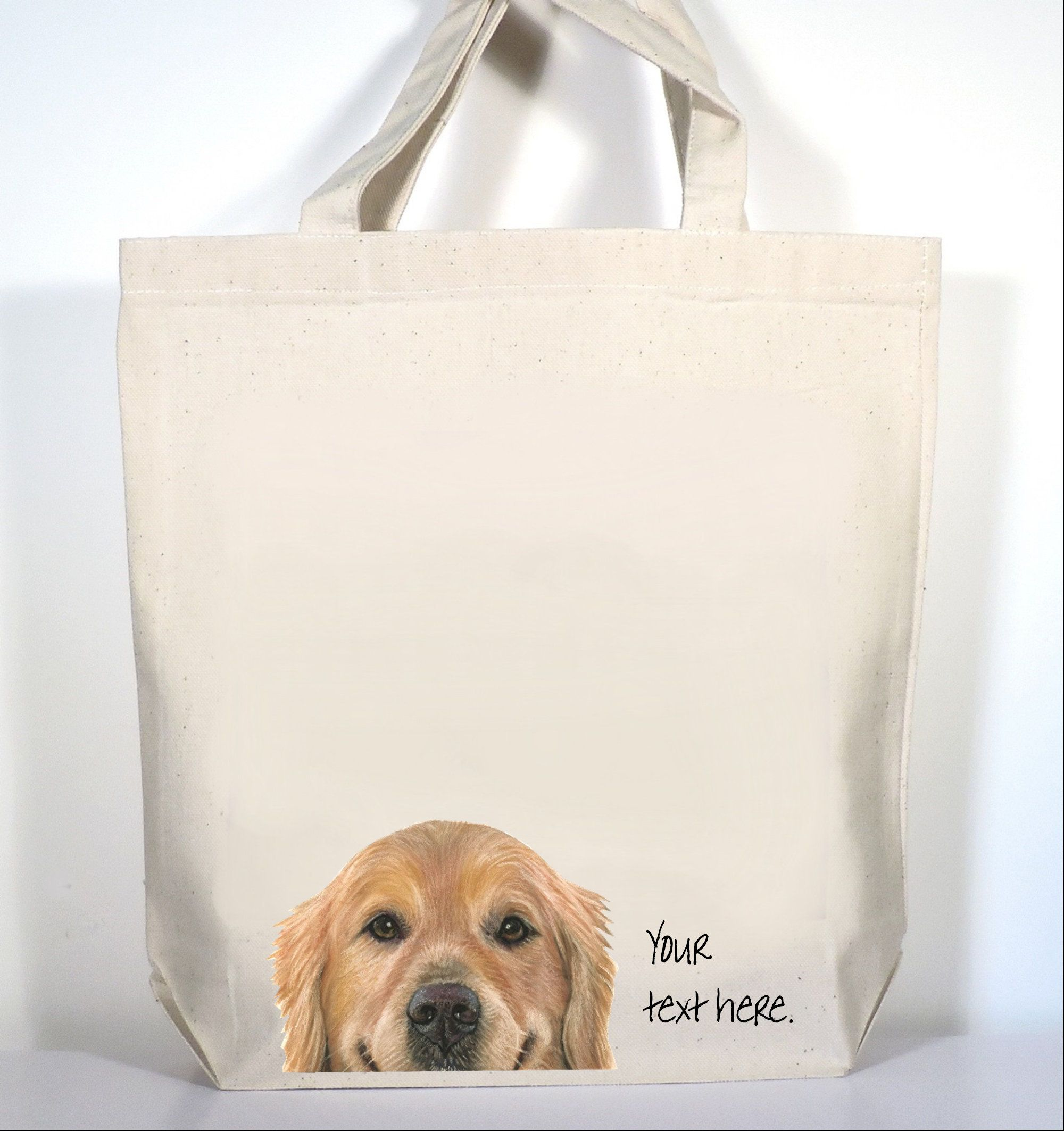 Golden Retriever Tote Golden Retriever Gift Golden Retriever Shopping Bag Includes Custom Text In 2020 Golden Retriever Gifts Tote Gifts For Pet Lovers