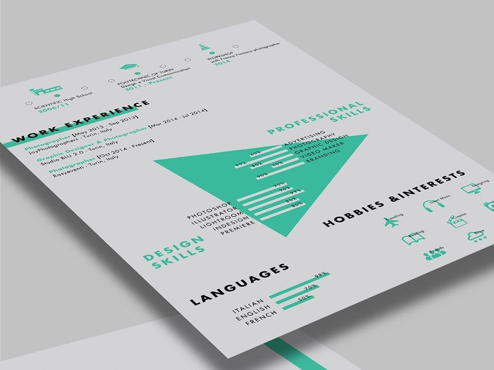 Free Stylish Resume Template with Creative Design in 2020