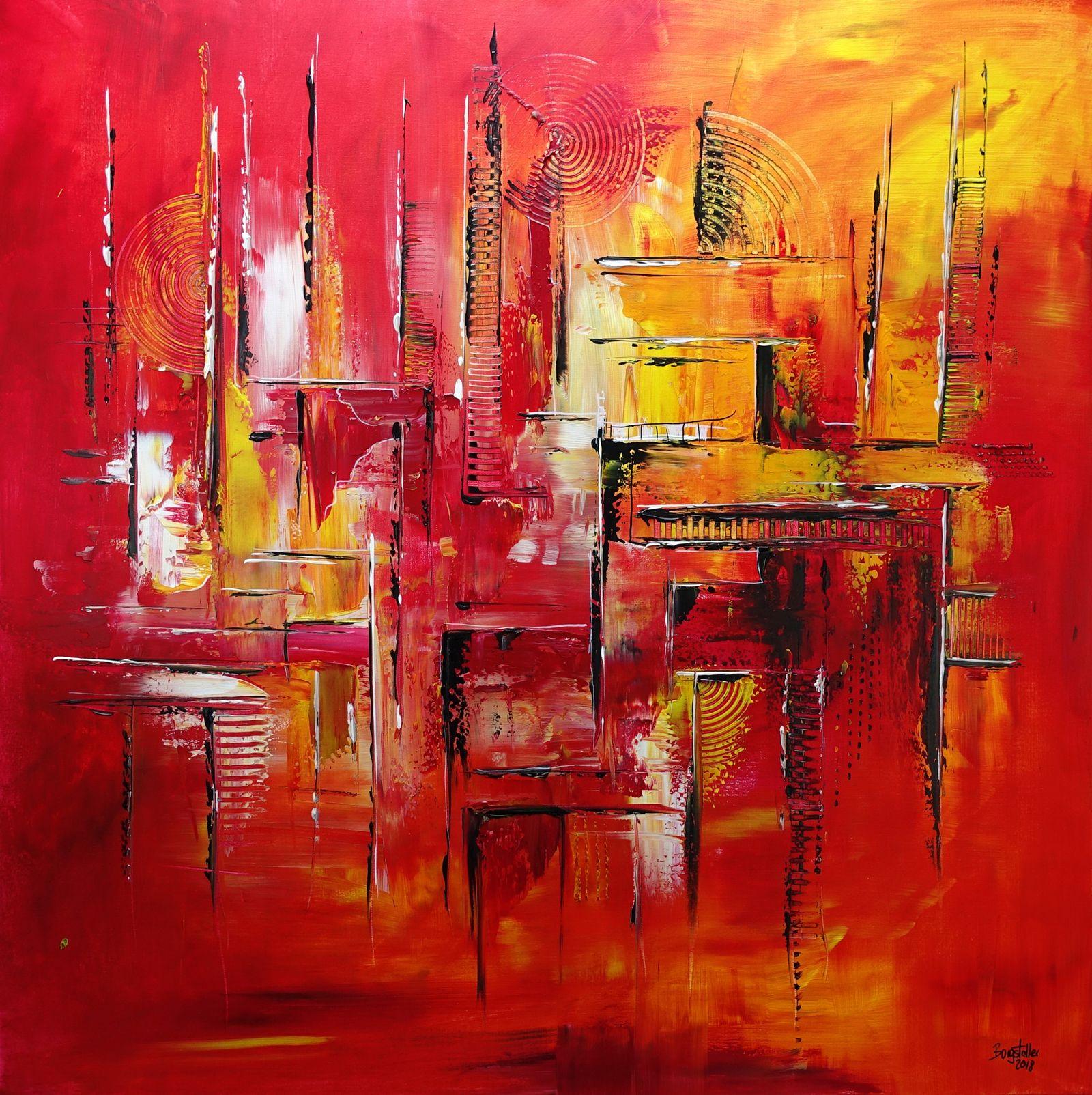 276 abstrakte gemalde verkauft feuerlabyrinth rot gelb wandbilder original kun abstraktes malerei acrylmalerei abstrakt moderne ölbilder auf leinwand acrylbilder