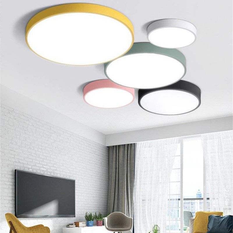 ultra LED simplified lamps 5cm thin color ceiling multi 8nOmN0vw