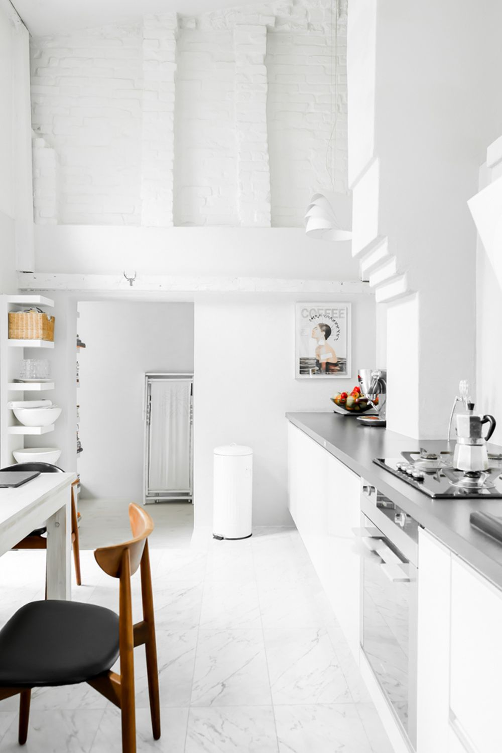 The Perfect All White Scandinavian Interior House Interior Interior All White Kitchen