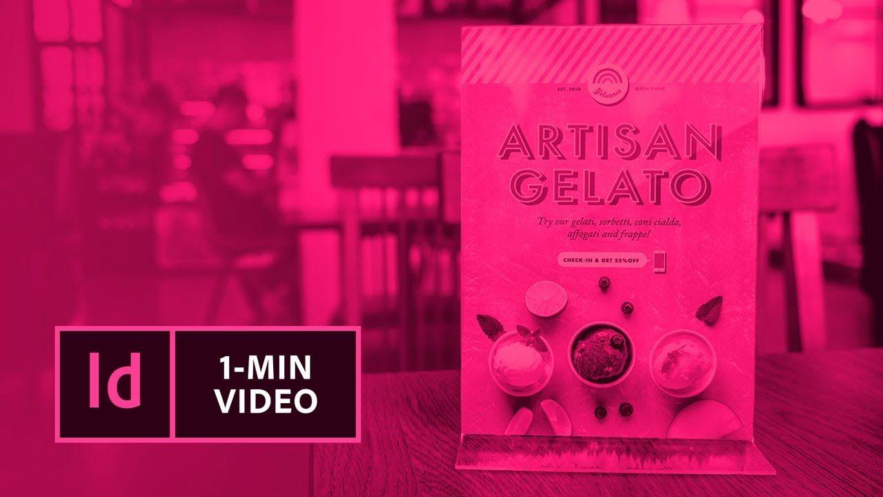 Mit InDesign eine Anzeige gestalten |Adobe DE - YouTube