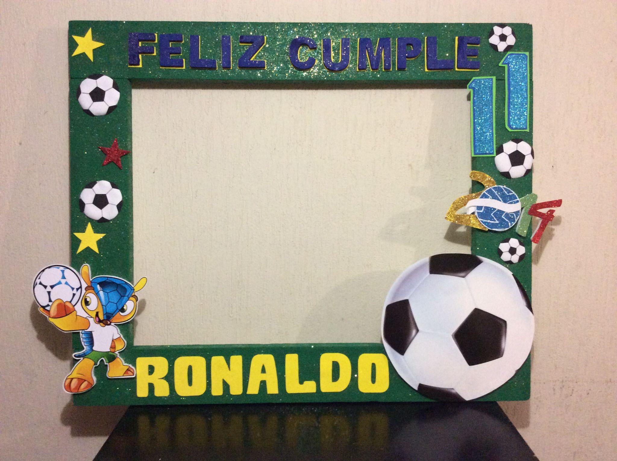 Marco futbolero | Diferentes decoraciones | Pinterest | Soccer party ...