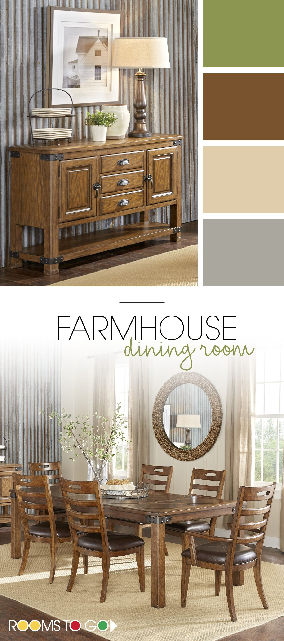 Farmhouse chic is in the perfect color palette with browns and the perfect color palette with browns and greens help to make brown dining roomsdining dzzzfo