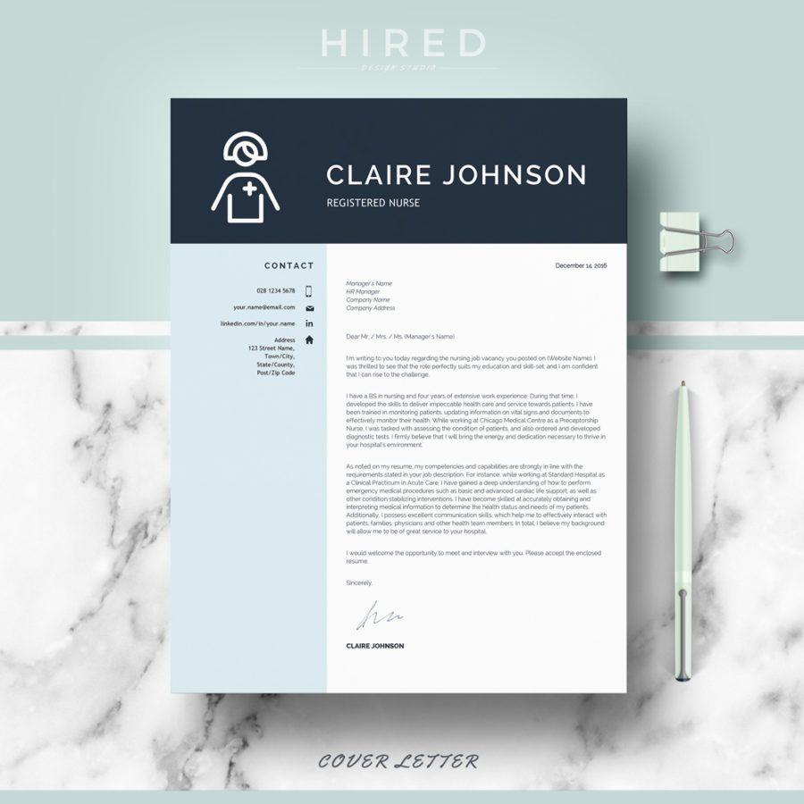 "Nurse Resume Template for MS Word: ""Claire""   Nurse Resume Templates ..."