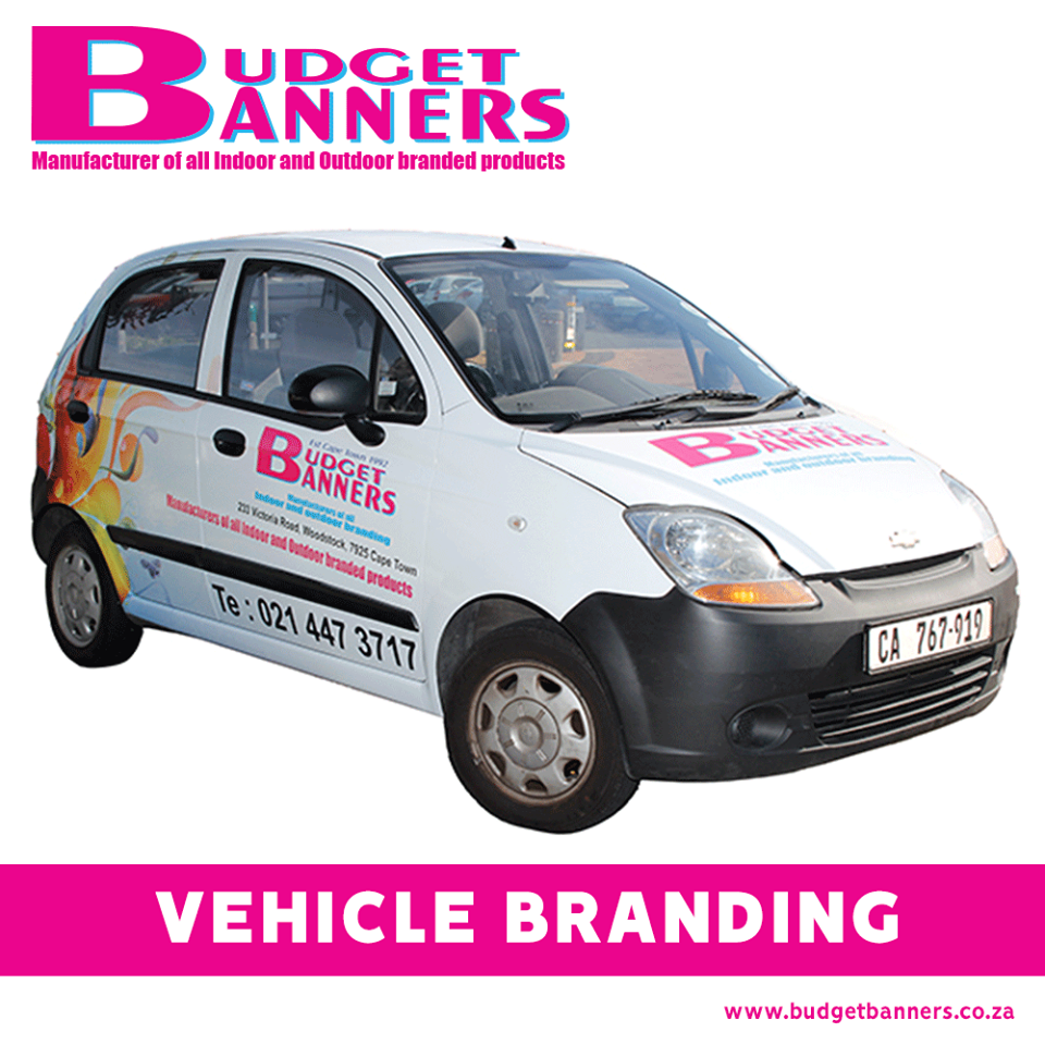 Budget banners license disc stickers cape town johannesburg