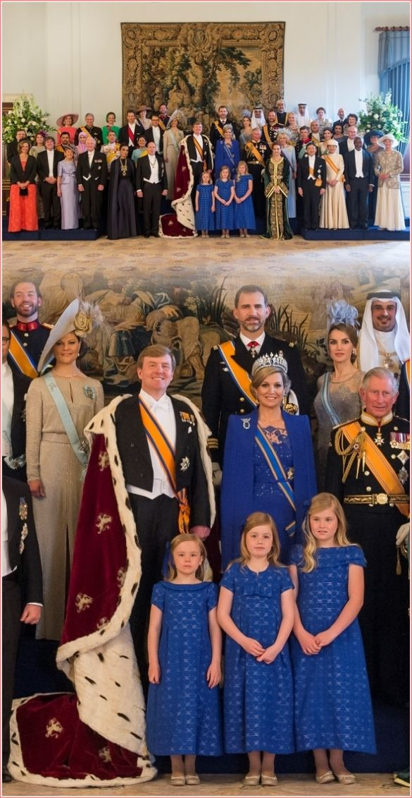 The New King And Queen Of The Netherlands With Other Royal Heads Of State Koninginnen Koningin Maxima Koninklijke Familie
