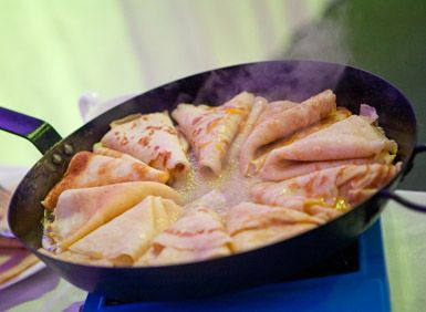 crepe flambe - crepes - ideal party food - event food - French recipe - wedding food - dessert