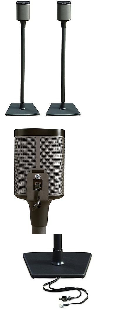 speaker mounts and stands sanus wss2 wireless speaker stand for sonos play1 and - Sanus Speaker Stands