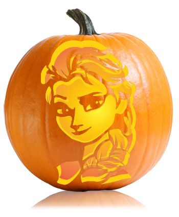 carve elsa from the disney movie frozen disney pumpkin. Black Bedroom Furniture Sets. Home Design Ideas