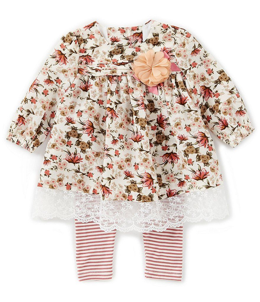 Bonnie Jean Baby Girls Newborn 24 Months Floral Printed