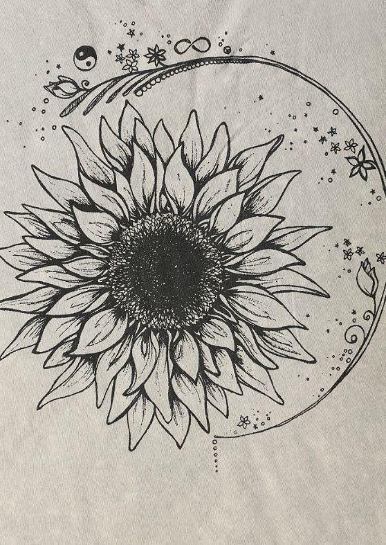53b655ea9 Sunflower tattoo/similar to sun and moon | My body is a wonderland ...
