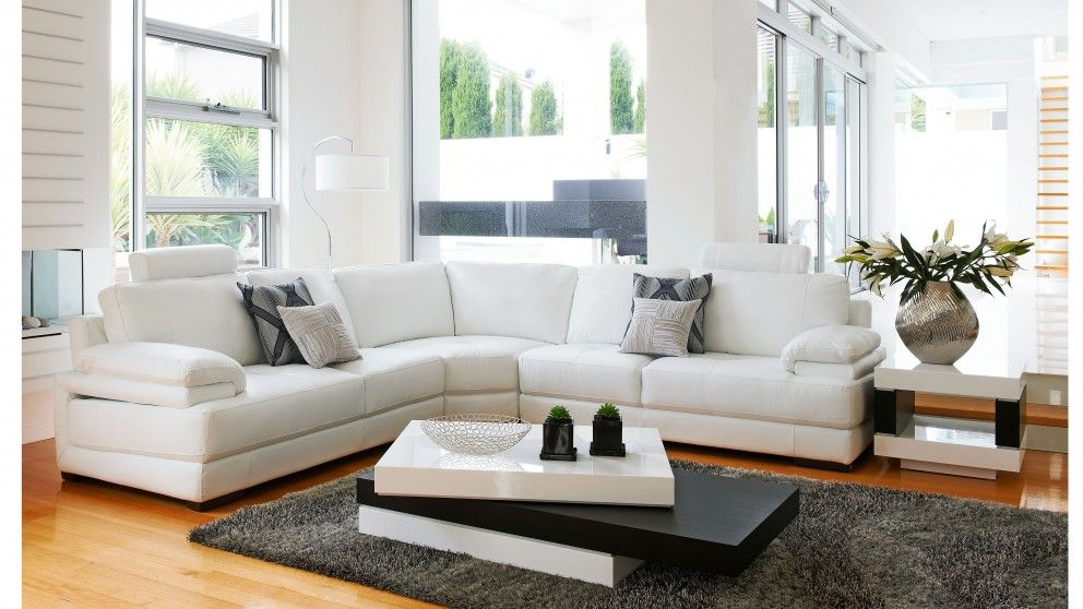 Tahiti Leather Modular Lounge Suite - Lounges - Living Room ...