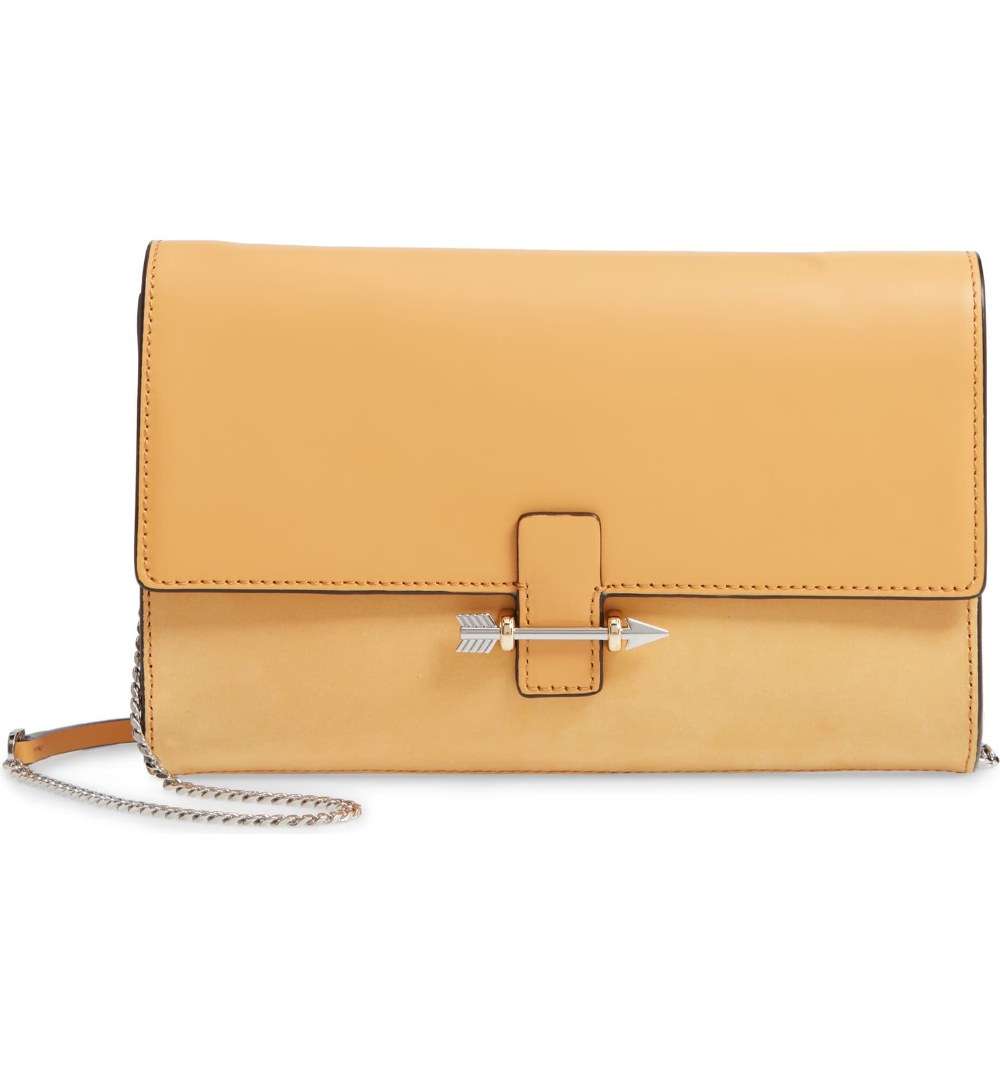 Details about  /MACKAGE Avah Leather Clutch//crossbody