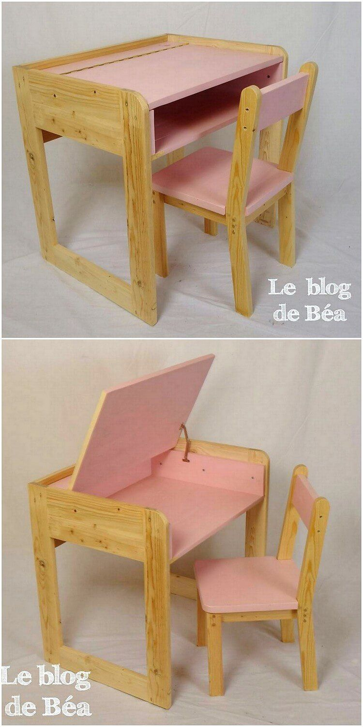 This study table and chair design is simple and yet lovely looking