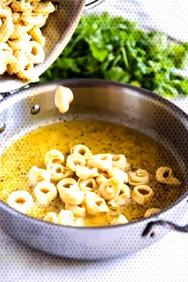 A simple, delicious recipe for cheese tortellini in garlic butter sauce. Z .... - Delicious Dishes
