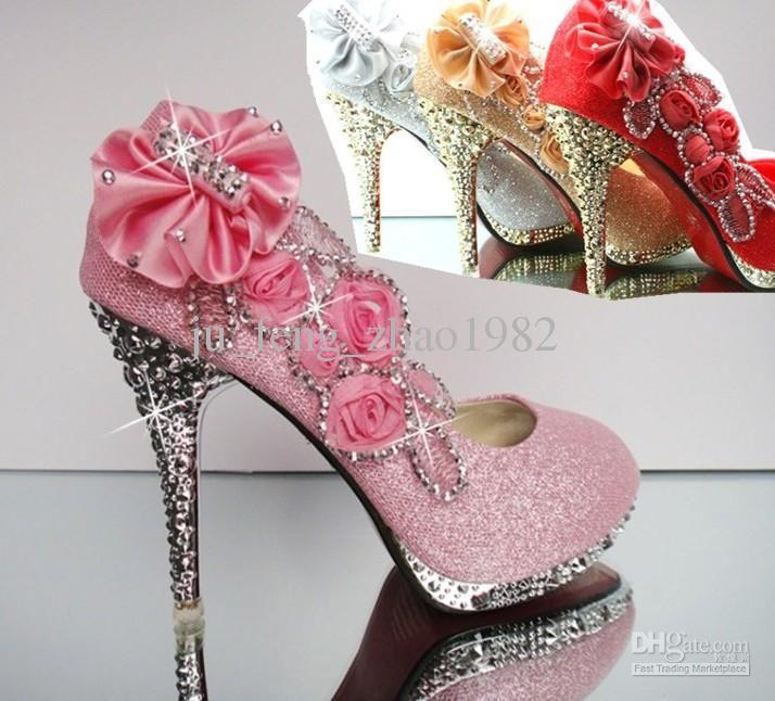 Wholesale Dress Shoes - Buy Best Sparkling Flowers Diamond Wedding ...