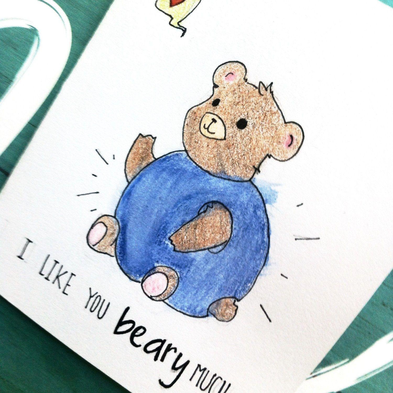 Cute Anniversary Card For Boyfriend Bestfriend Cute Card With Bear Anniversary Cards For Boyfriend Cute Cards Anniversary Cards