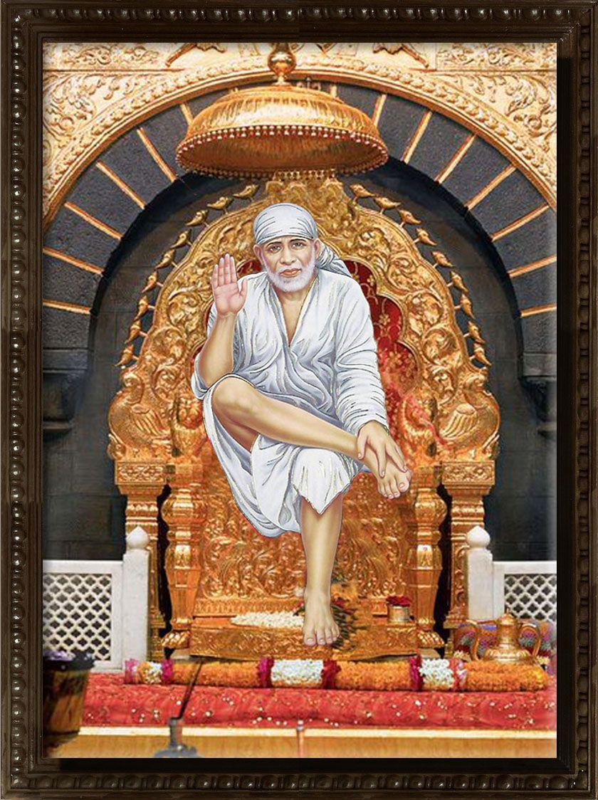 3d mural oil painting of shirdi saibaba india covered with for 3d mural art in india