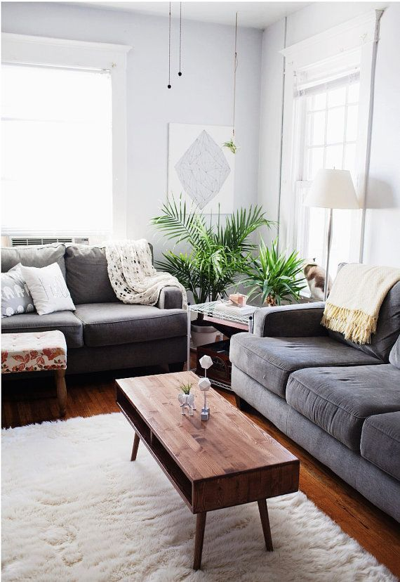Mid century modern coffee table in 2019 living room on a - Mid century modern decor on a budget ...