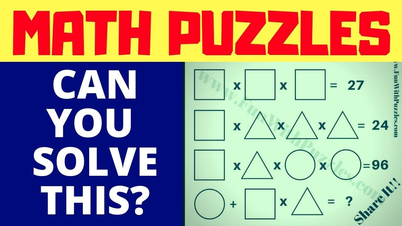 Math Riddles With Answers For High School Maths Puzzles Math