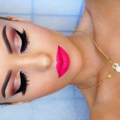 hot pink lips pinklipsart in 2019  makeup looks eye
