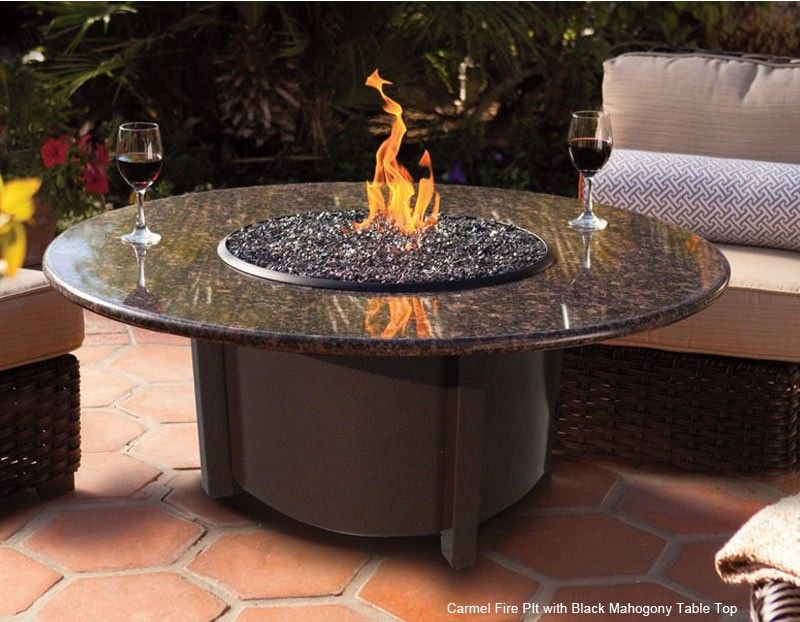 Carmel series chat height fire pit table gas fire pit
