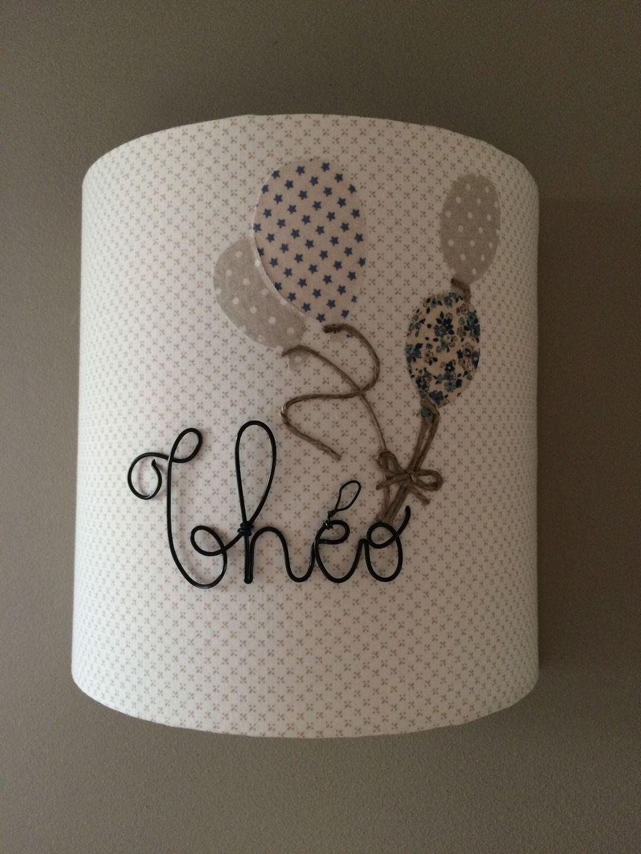 Applique Murale ballons prénom | Lampshades, Knit crochet and ...