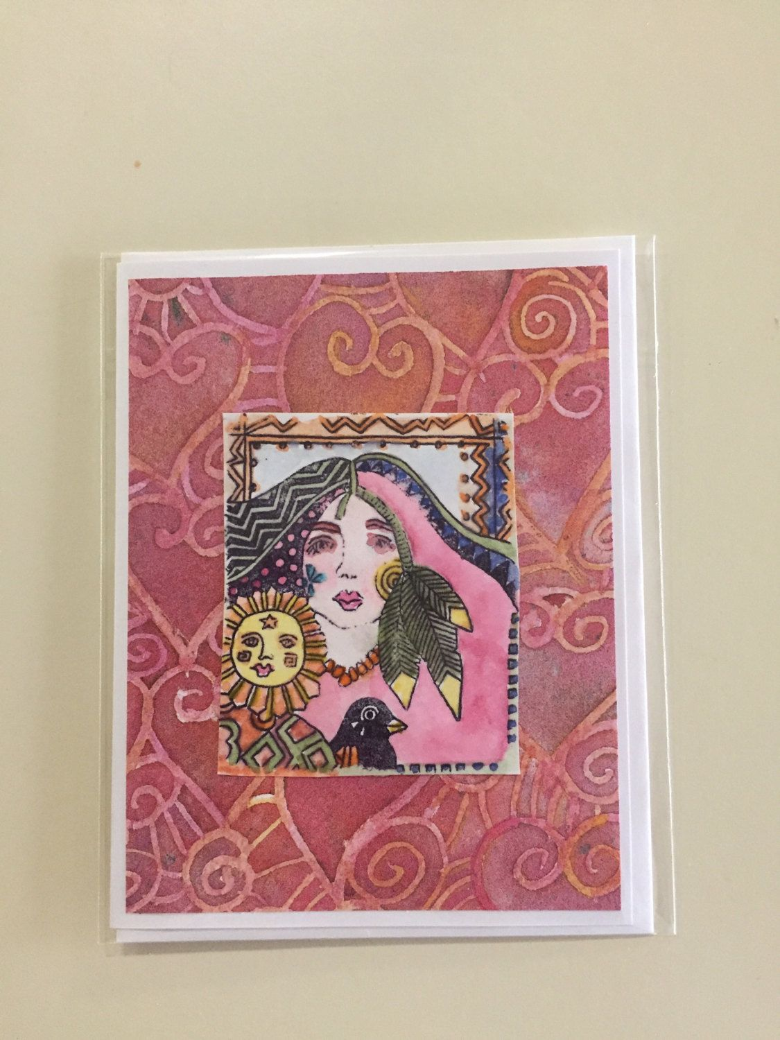Native American Greeting Card Handmade For Any Occasion Hand