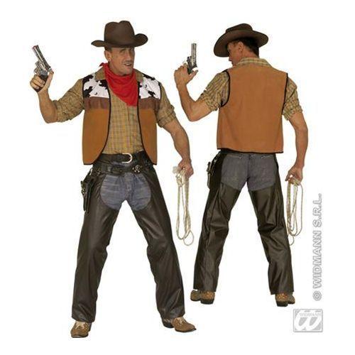 Mens Cowboy Brown Leather Chaps Fancy Dress Costume Extra Large  sc 1 st  Pinterest & Mens Cowboy Brown Leather Chaps Fancy Dress Costume Extra Large ...