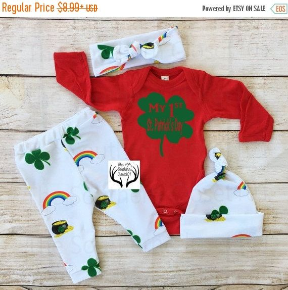 LAST CHANCE SALE ends2-18 St. Patrick's Day Outfit,Unisex Coming Home Outfit,Baby St. Patrick's Day Outfit,My 1st St. Patrick's Day outfit,S