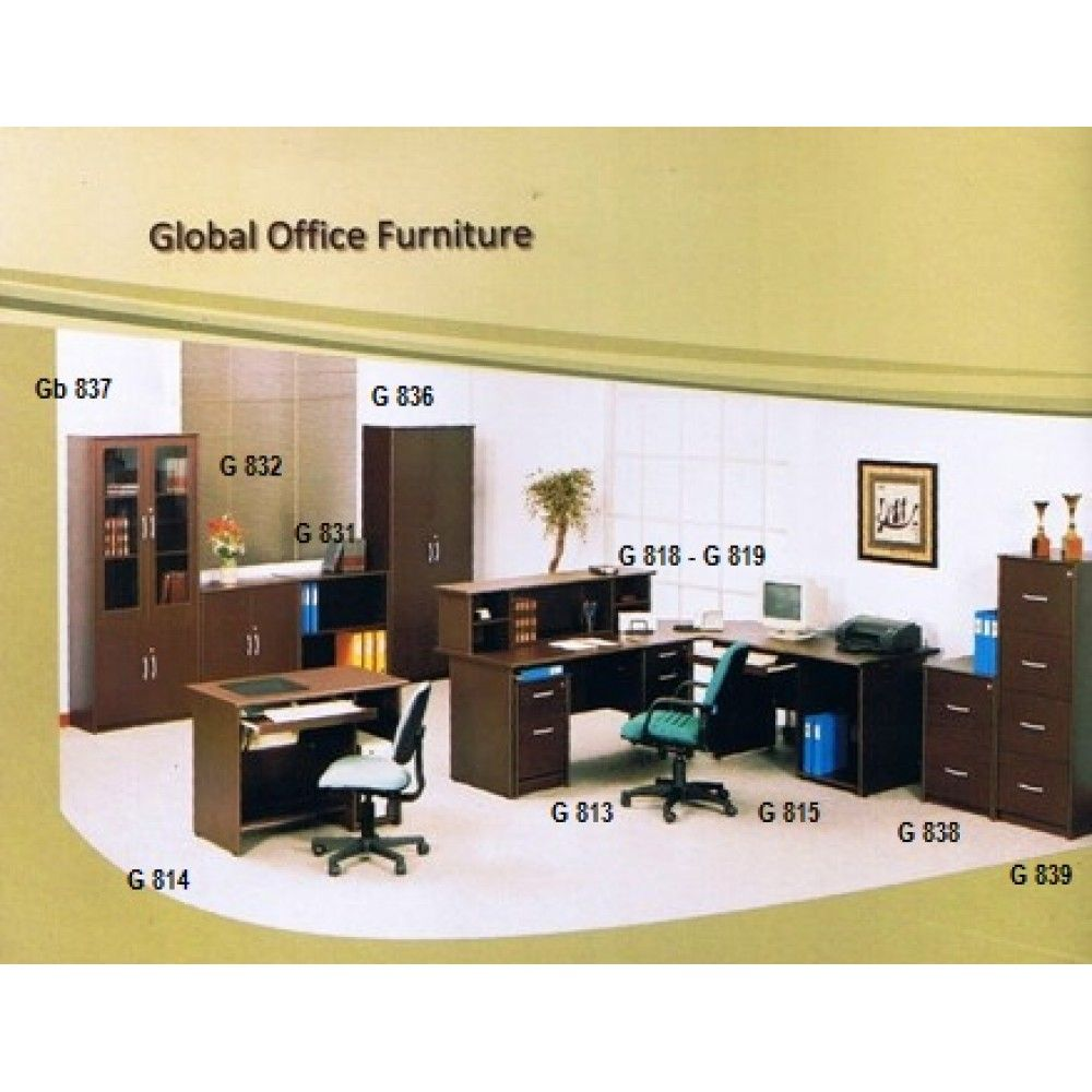 Rak Receptionist Global G 819 Pusat Grosir Peralatan Kantor  # Muebles Saphire