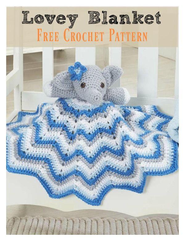 Cutie Elephant Blankie Free Crochet Pattern Crochet Pinterest