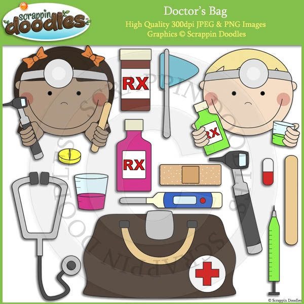Doctor's Bag Clip Art | My Art | Pinterest | Bag clips ... (600 x 600 Pixel)