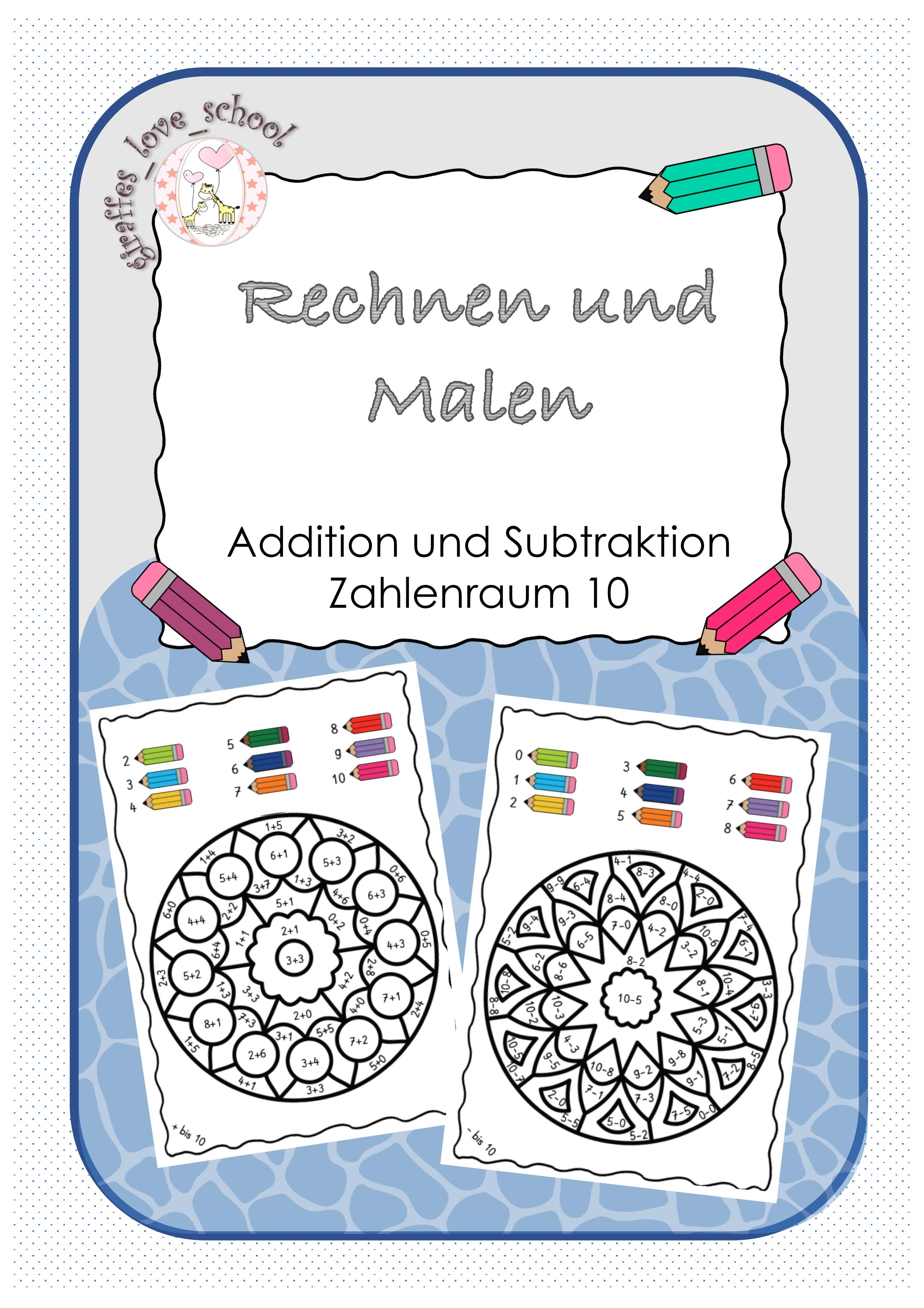 Rechnen und Malen   Mandalas   Zahlenraum 20 schulschließung ...