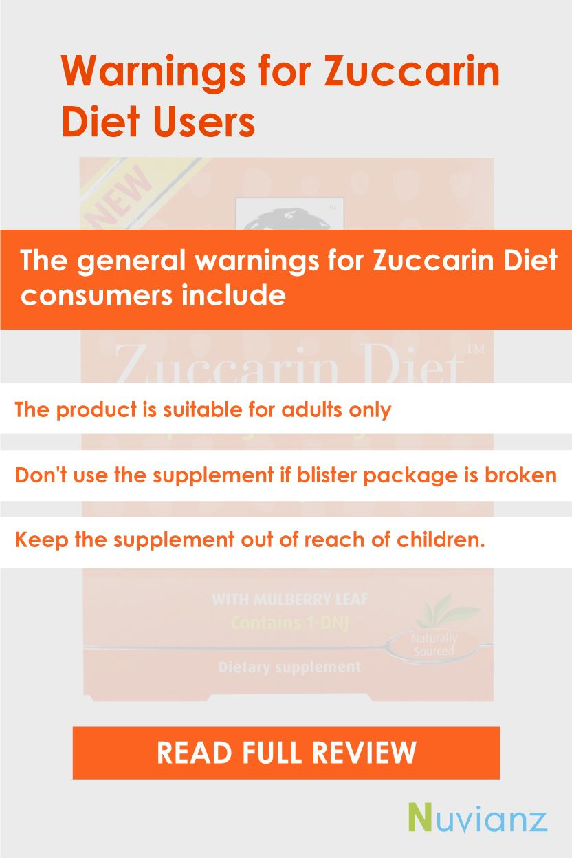 Warnings For Zuccarin Diet Users Diet Reviews Diet Diet Pills