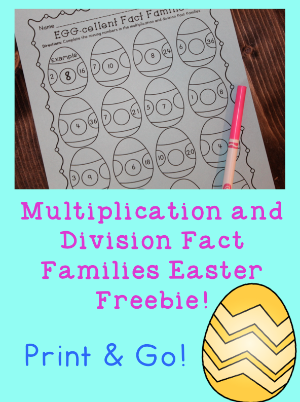 Free Easter Math Activity - Multiplication and Division Fact ...
